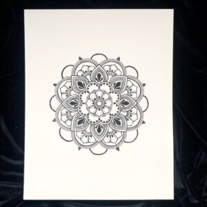 Mandala print in Jagua tattoo blue