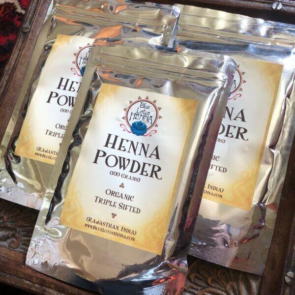 3 packets of Rajasthani henna powder