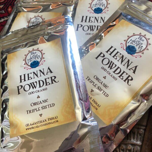 4 packets of Rajasthani henna powder