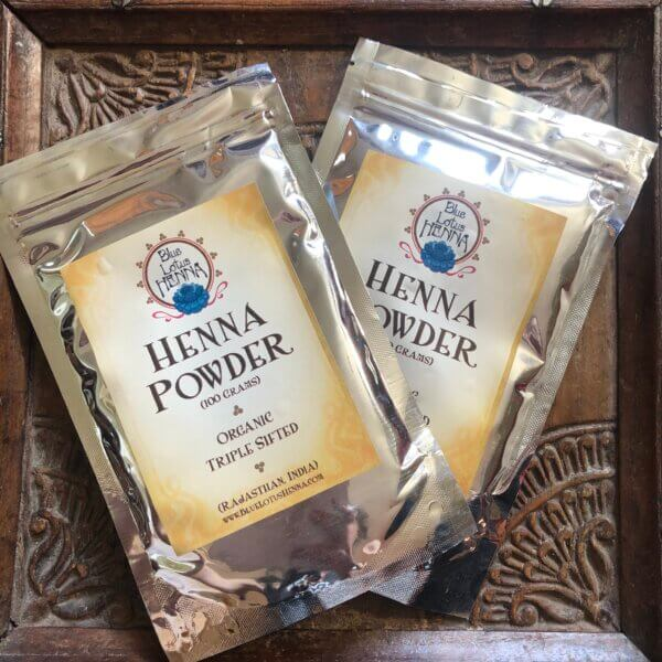 2 packets of Rajasthani henna powder