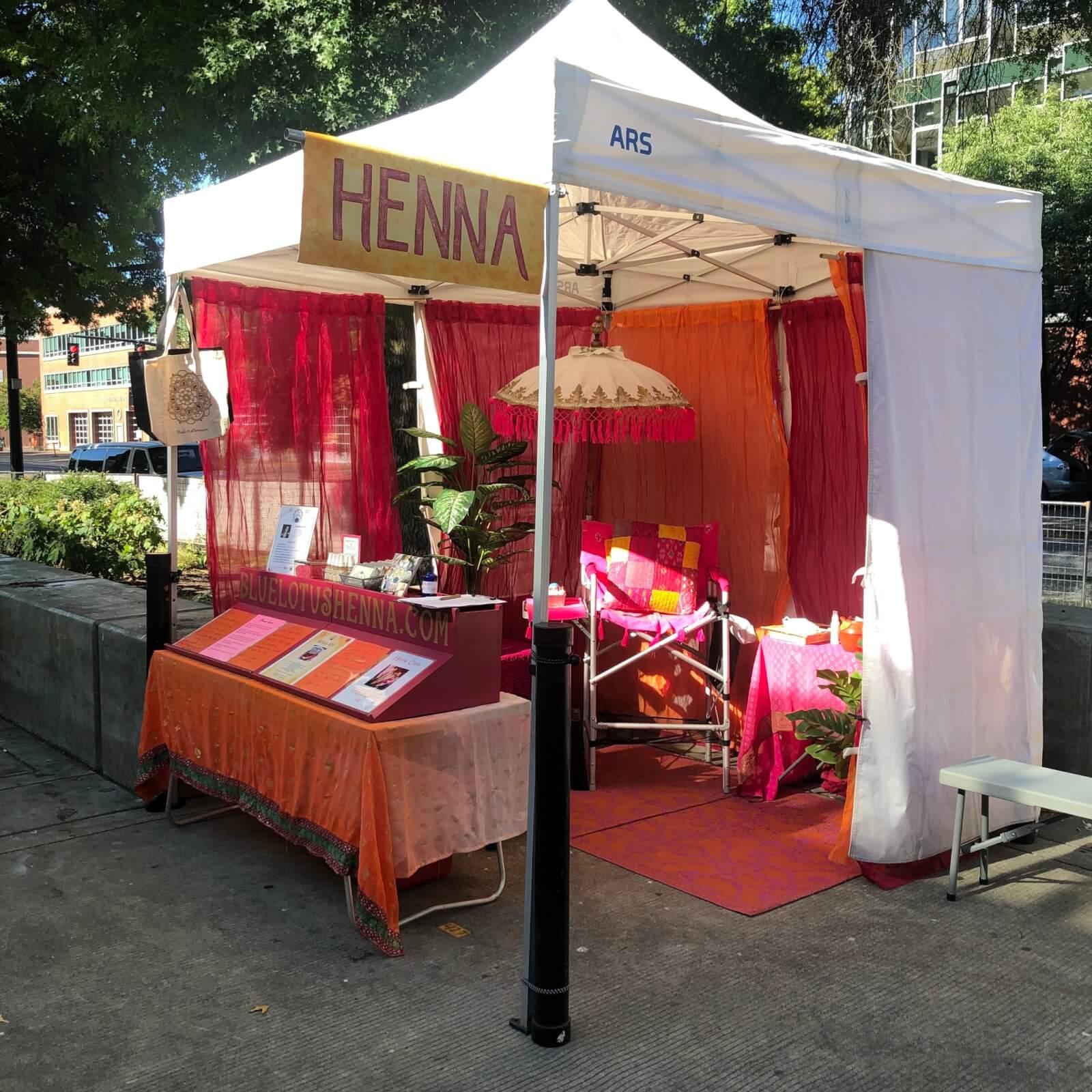 Blue Lotus Henna - Portland Saturday Market Tent